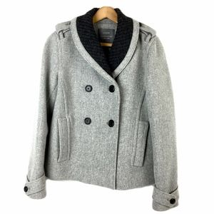 J Crew x Nello Gori Stadium Cloth Grey Wool Coat
